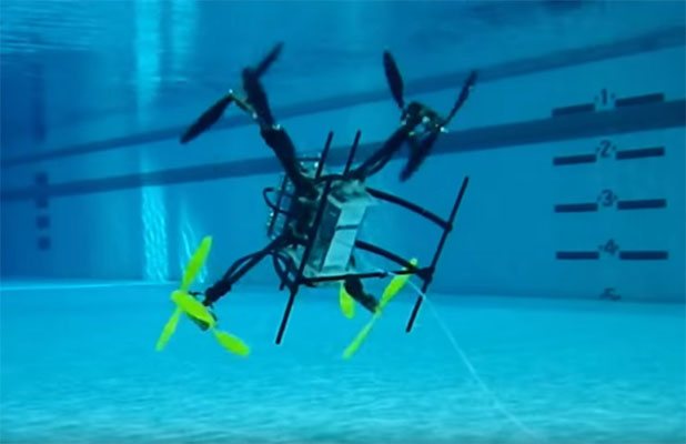 rutgers-underwater-drone Rutgers Gets Navy Funding for Developing Flying & Swimming Drone
