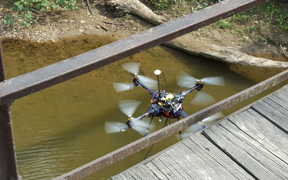 tethered-drone-prototype1 Tethered, Gas-Powered Drone Prototype Performs Bridge Inspections