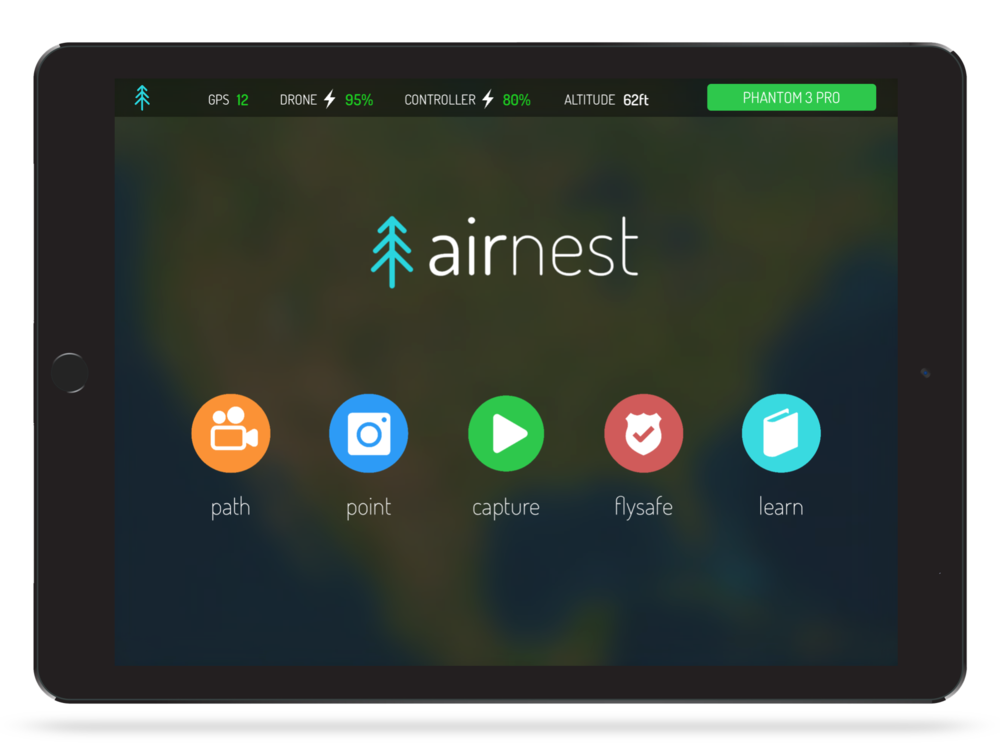 Airnest_iPad_white Airnest's Flying App Now Compatible with Six DJI Drones