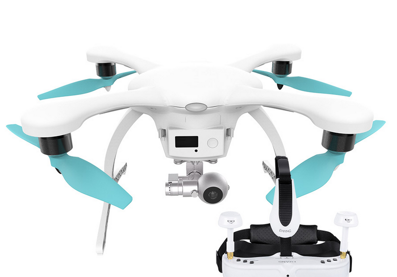 ehang-ghost-2.0 EHang Releases Ghost 2.0 Drone with Tilt Control, Virtual Reality Goggles