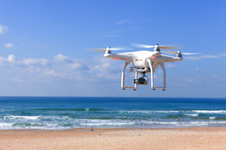 dji-drone-at-beach DroneDeploy Launches Free iOS App for DJI Drone Users