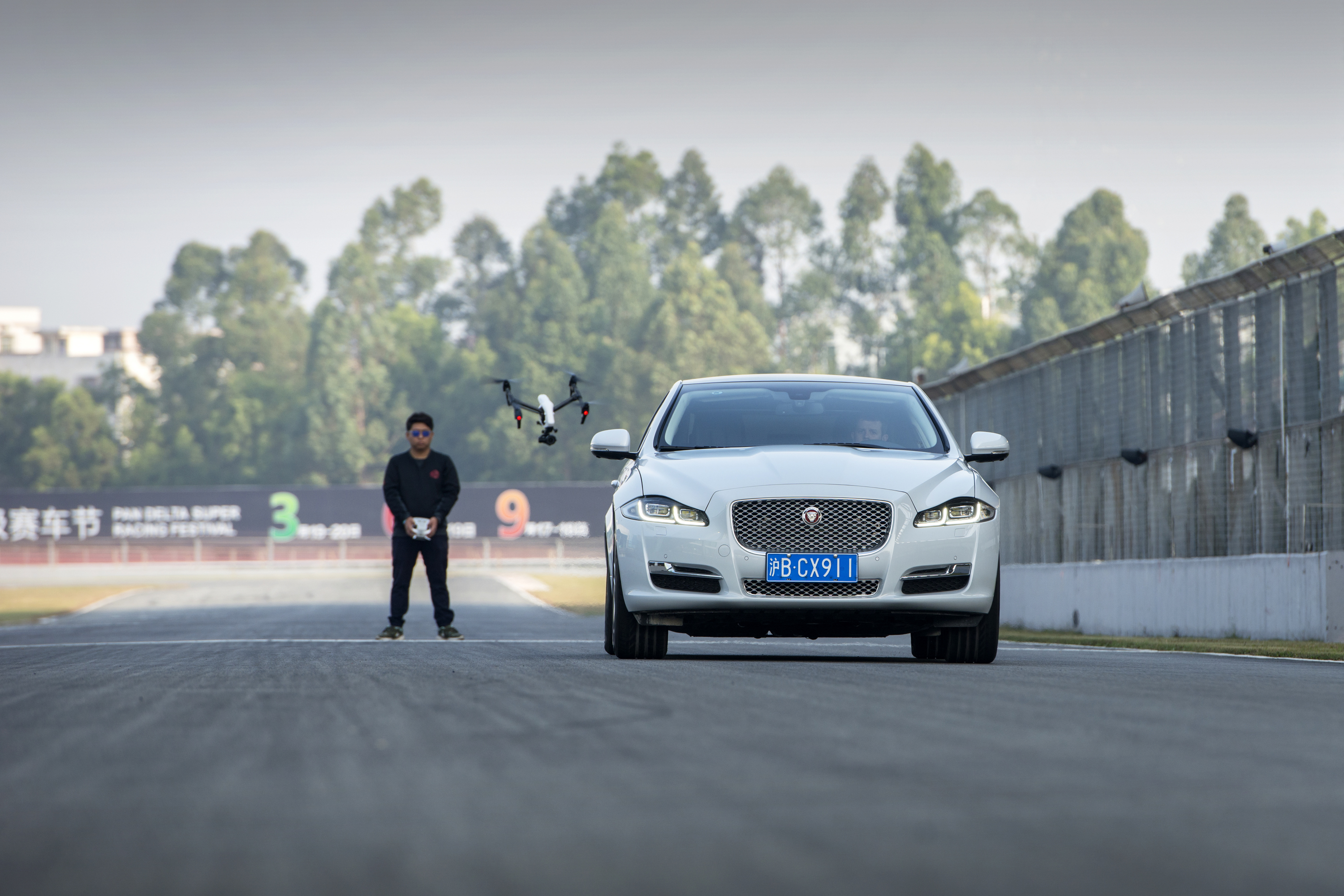 AJC3000-Photo-Credit-Anthony-Cullen Race Between Jaguar XJ and DJI Drone Demos UAS for Stunt Filming