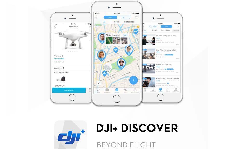 DJIPic1-1 DJI Introduces New Mobile App for Connecting with Drone Community