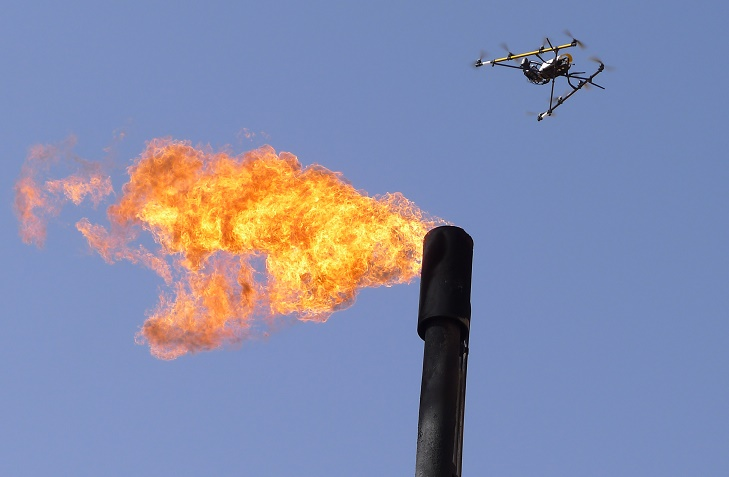 drone-flare-ME Cyberhawk Completes Unmanned Oil and Gas Inspection in Qatar