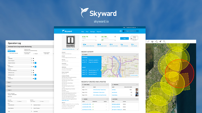 Skyward_Hero-3up-with-logo Skyward Rolls out New Features on Drone Operations Management Platform