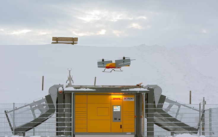 dhl-packstation-skyport-winter DHL's Latest 'Parcelcopter' Deliveries Go off Without a Hitch