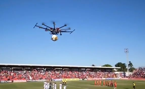 fifa Drone Delivers Ball at FIFA Soccer Match