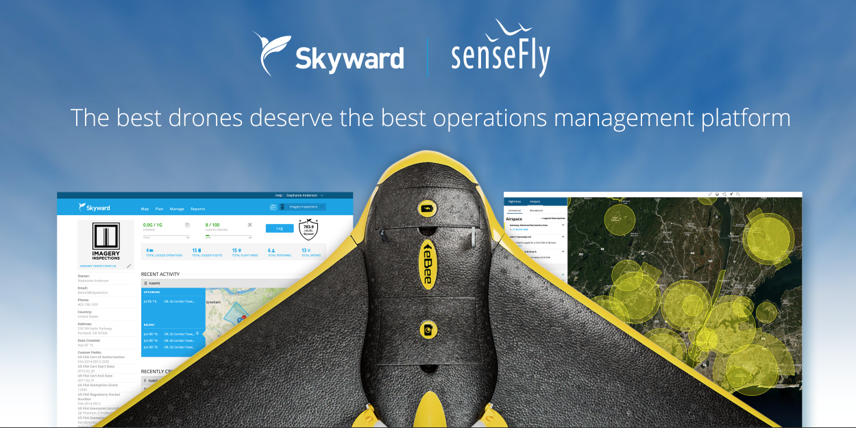 SW_SF-eBee Skyward and senseFly Team Up for Drone, Operations Management Integration