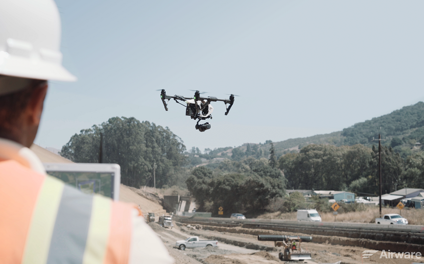 Commercial-Drone-at-Construction-Site-Launching-2 Airware Acquires Redbird: A Marriage of Enterprise Drone Solutions