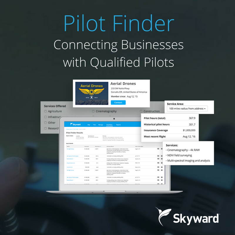 Introducing-Pilot-Finder Skyward Rolls out Drone Pilot Finder
