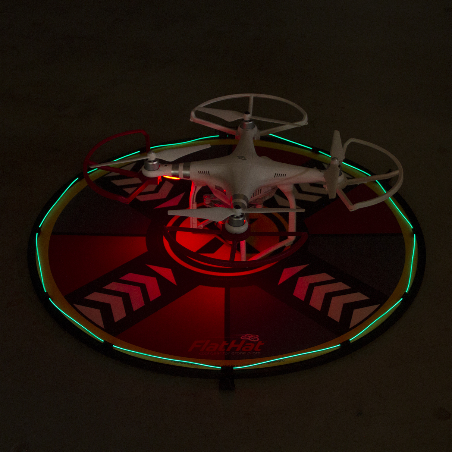 FlatHat Introduces Collapsible Drone Pads, Lighting Kits