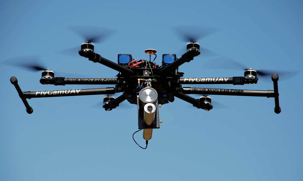 fhfdhdhfd FlyCam's Hexacopter and Octocopter Deploy Radiation-Detection System