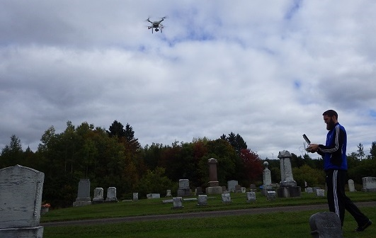 WANG2591-s UAVs Help Students Plot Cemetery for Maine Town