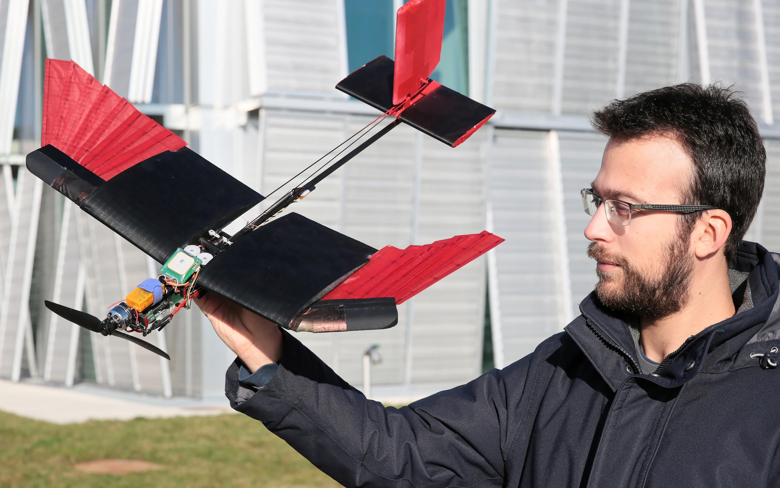drone- Researchers Create Feathered Drone for Easier Maneuverability