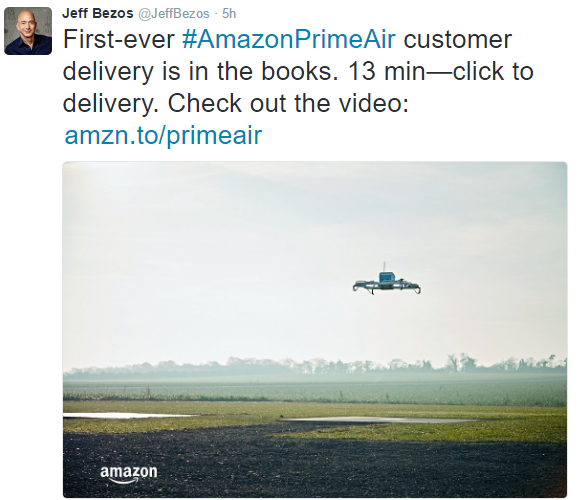 Amazon Prime Air Finally Delivers to Some Customers