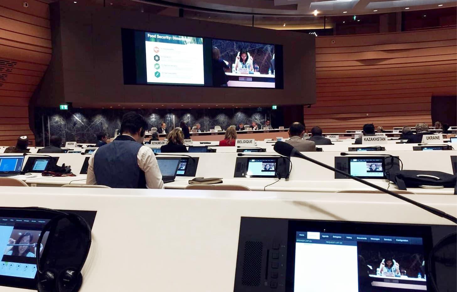 AG_UN Pix4D Touting Drone Mapping Solutions at United Nations Panel