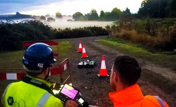 drone English Water Company Puts UAS to the Test for Leakage Detection
