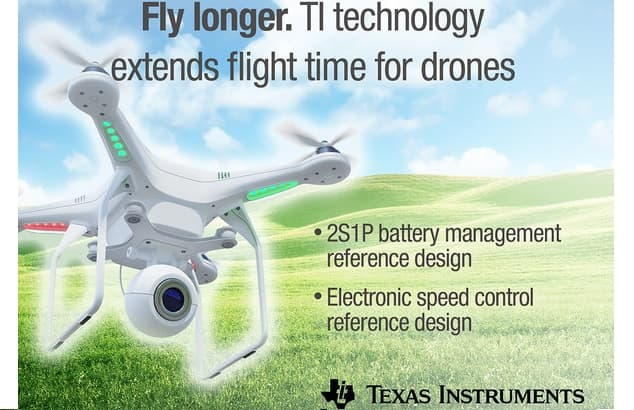 prnewswire2-a.akamaihd-3 Texas Instruments Develops Tech to Extend UAS Battery Life, Flight Time