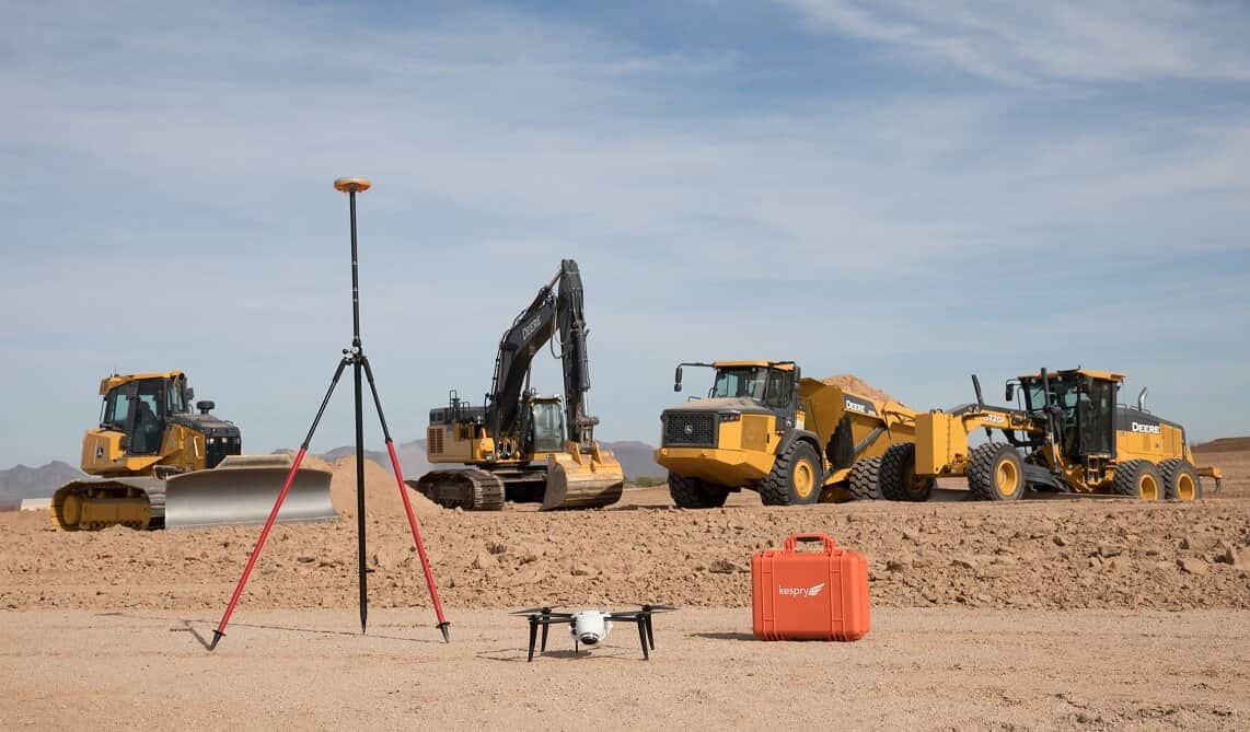 JD_Kespry_2-2 John Deere Bringing Kespry's Automated Drone System to Job Sites