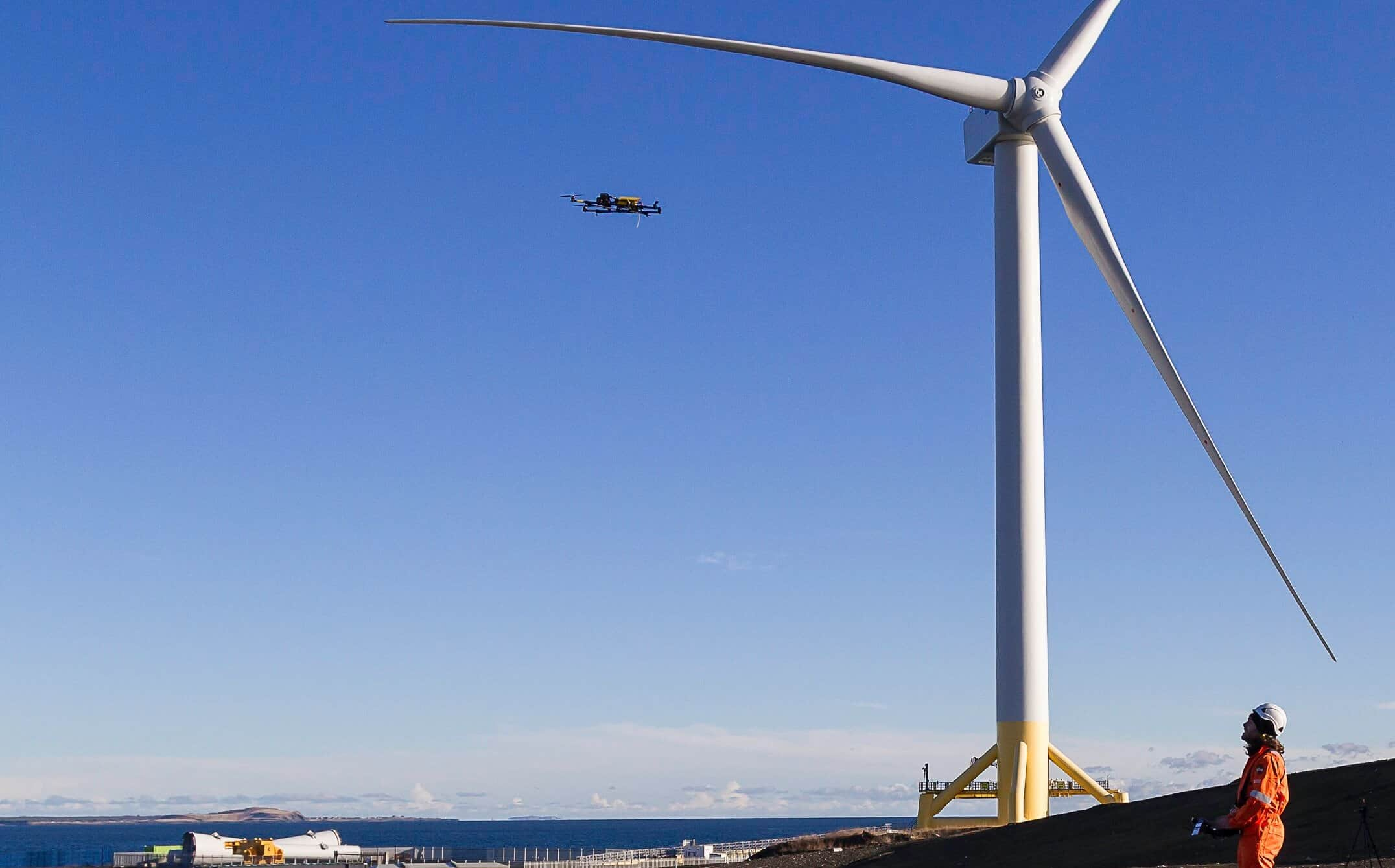 SgurrEnergy-UAV-with-wind-turbine-generator-e1488902831179 Renewables Consultancy Adopts Drones for Inspections