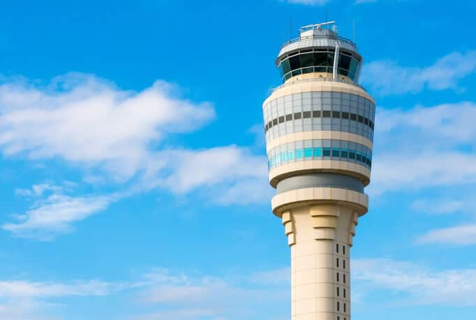 airport-control-tower-atlanta With Federal Green Light, ATL Deploys Drone Over Runway