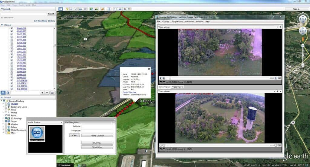 pipeline-patrol-video-google-earth Remote GeoSystems Offers Google Earth Extension for UAV Footage