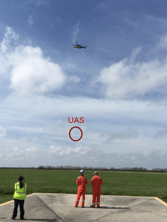 skyfutures-helicopter-drone Sky-Futures and Bristow Prove Interoperability of Helicopter and UAS