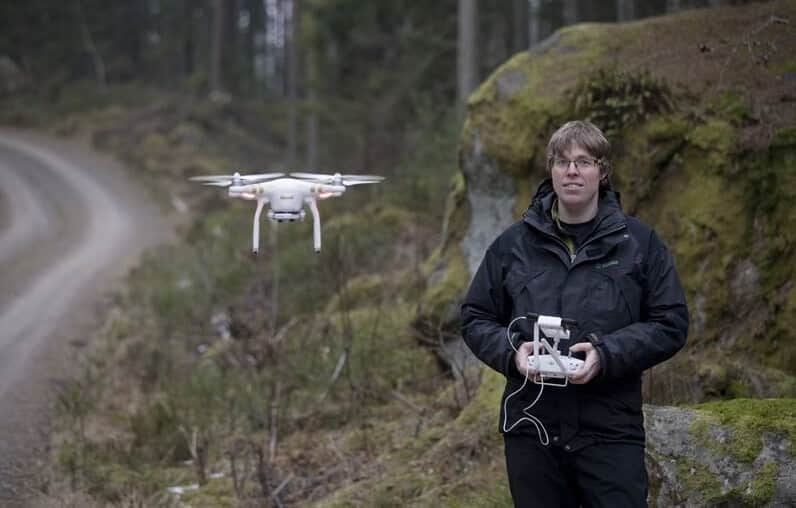 drone-forest-sweden Drone Work Over Storm-Affected Forests OK'd by Swedes