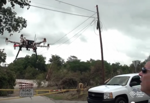 1203_twc_drone Drone Restores Telecommunications for 20,000 Texans