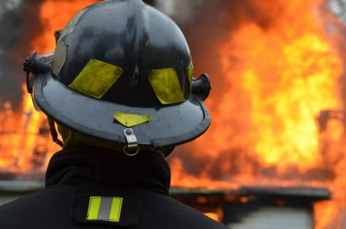 1349_fireman_looking_at_fire Sen. Addresses Liability Concerns for 'Rogue Drones' During Emergency Response