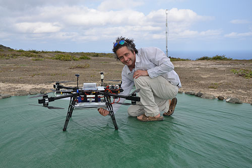 Octocopter Samples Methane, CO2 on South Atlantic Island