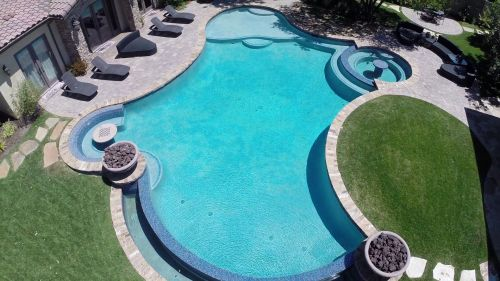 647_green_scene_pool California Landscaping and Pool Company Using Drone Photography