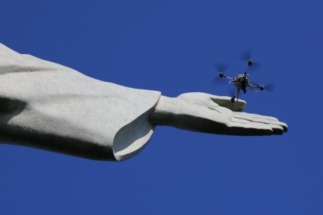 915_drone_and_christ_05 Aeryon, Pix4D Turn Christ the Redeemer into 3D Model