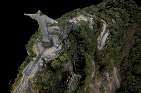 915_statuemtps_2 Aeryon, Pix4D Turn Christ the Redeemer into 3D Model