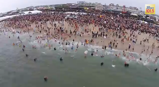 979_penguinplunge Drone Joins 6,000 People on New Jersey Beach
