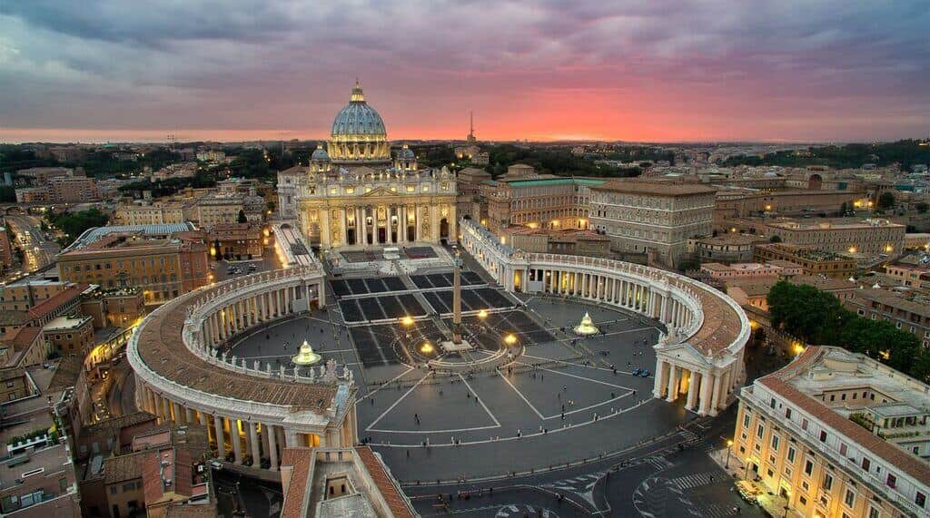drone photography vatican rome
