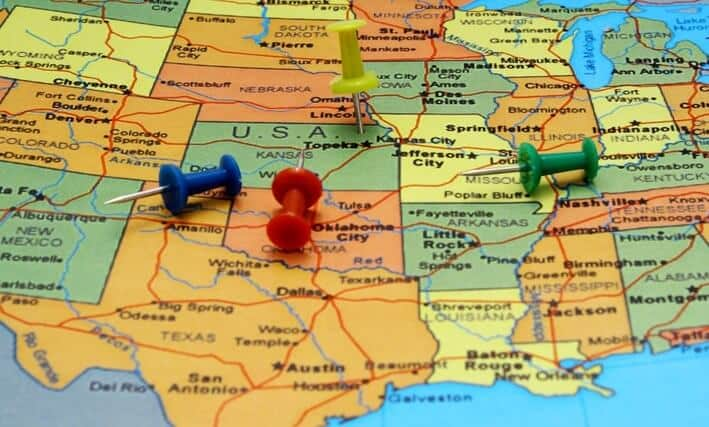 map usa pushpins america