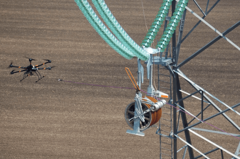 Sock-Pull7 North Dakota Companies Deploy UAS to Help Construct Power Lines