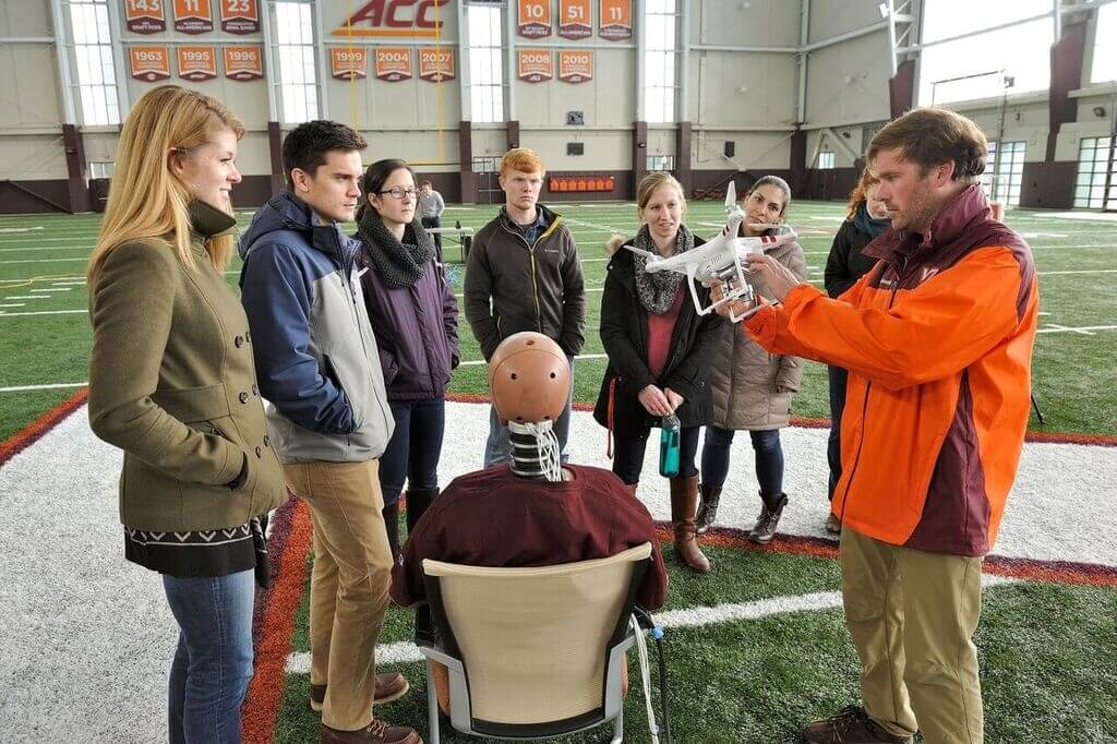 dummy-drone Virginia Tech: How Much Injury Can a Drone Crash Cause? It Depends