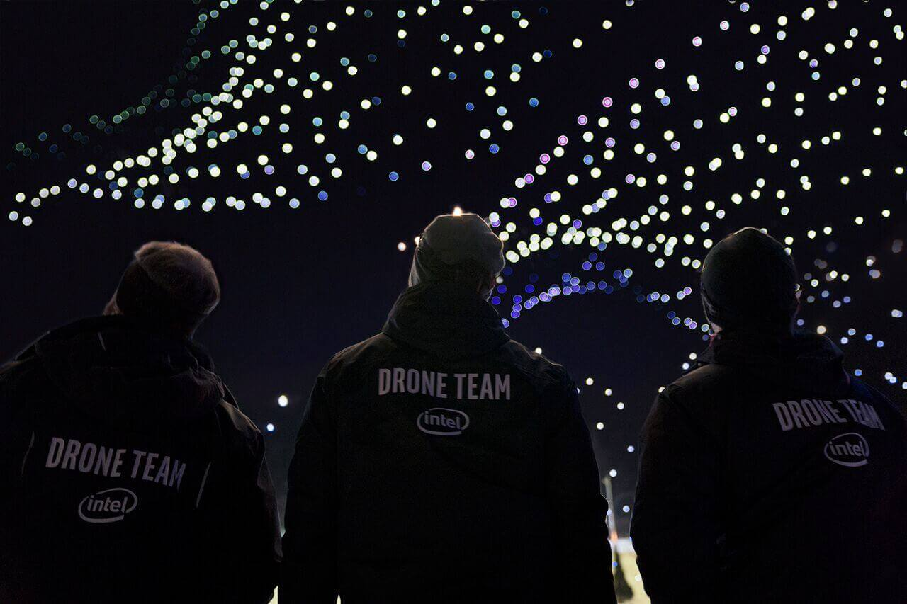 intel-drones Intel Puts on Record-Breaking Drone Show for Olympics