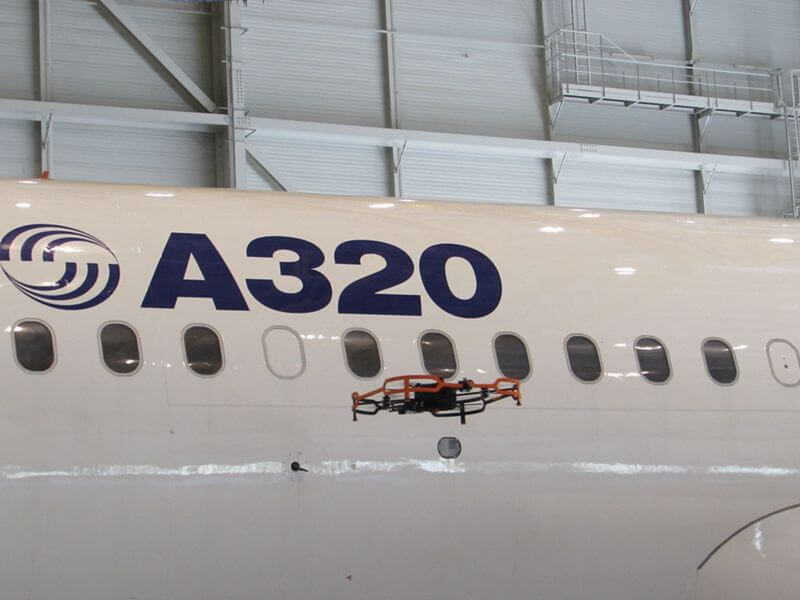 Airbus Creates Drone For Inspecting Airplanes Inside The
