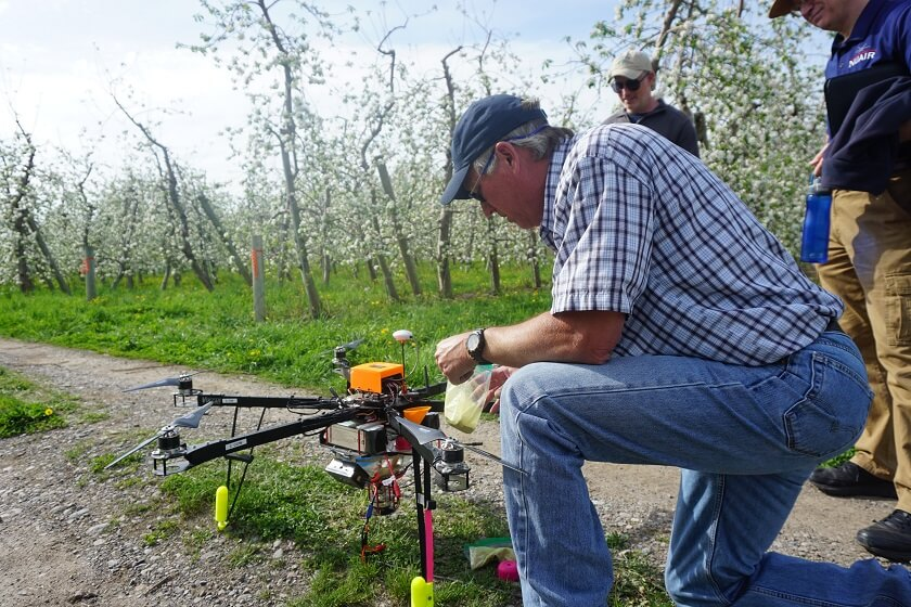 drone-orchard Dropcopter Drone Autonomously Pollinates Apple Trees