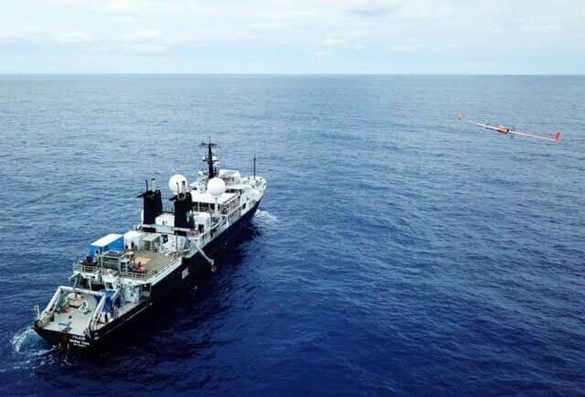 uas-ship Unmanned Aircraft Explores Ocean Health off California Coast